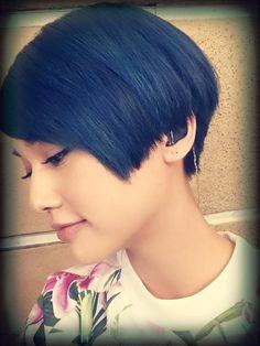 丹寧藍髮色