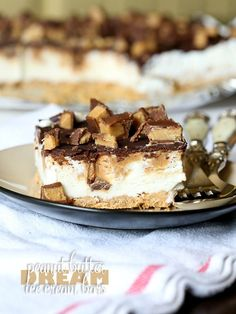 Peanut Butter Dream Ice Cream Bars