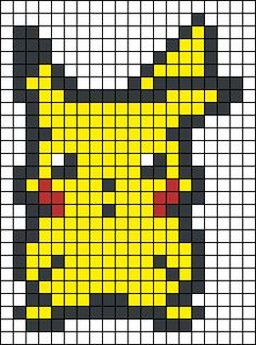 Alpha friendship bracelet pattern added by DjaWoLche. Melty Bead Patterns, Pearler Bead Patterns, Perler Patterns, Beading Patterns, Loom Patterns, Loom Beading, Pikachu Hama Beads, Pyssla Pokemon, Pokemon Cross Stitch