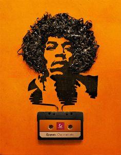 Cassette tape Art Jimi Hendrix Case For Samsung Galaxy Note 2 Cassette Tape Art, Illustrator, Magnetic Tape, Robert Smith, Best Ads, Creative Advertising, Advertising Ideas, Advertising Campaign, Ads Creative