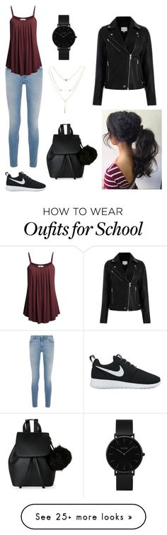 """School"" by barbarapereira110 on Polyvore featuring Givenchy, IMoshion, NIKE and CLUSE"