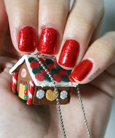♪ It's Beginning To Look Like Christmas ♬ Kiko 405 Bold Red Glitter Nails, That Look, Festive, Christmas, Fun, Romance, Holidays, Noel, Xmas