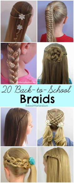 20 Back-to-School Braids from BabesInHairland.com ~ I like the rose bun, so pretty!