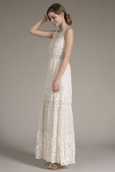This site has lots of boho lace stuff.  These lace maxi dresses and a cute cardigan would probably work for Alison Women's Sabrina Lace Maxie Dress<br>Now in Stock!