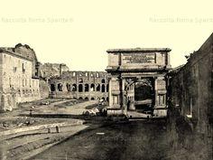 Arco di Tito.Colosseo e meta sudans