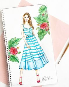 Ideas dress designer ideas drawing for 2019 Dress Design Drawing, Dress Design Sketches, Fashion Design Sketchbook, Fashion Design Drawings, Fashion Sketches, Dress Drawing, Fashion Illustration Tutorial, Dress Illustration, Fashion Illustration Dresses