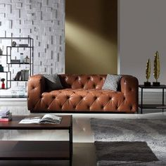 online shopping for Large Tufted Real Leather Chesterfield Sofa, Classic Living Room Couch (Black) from top store. See new offer for Large Tufted Real Leather Chesterfield Sofa, Classic Living Room Couch (Black) Real Leather Sofas, Genuine Leather Sofa, Italian Leather Sofa, Leather Chesterfield, Chesterfield Sofas, Brown Leather Couch Living Room, Living Room Sofa, Living Spaces, Sofa Design
