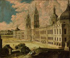 Convento de Mafra antes de 1755 - Palácio Nacional de Mafra – Wikipédia, a enciclopédia livre