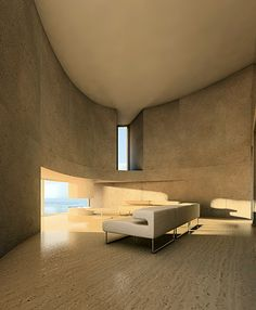 Interior of the Ellipse 1501 House Completed in 2007   Location: Rome, Italy   Architects: Antonino Cardillo