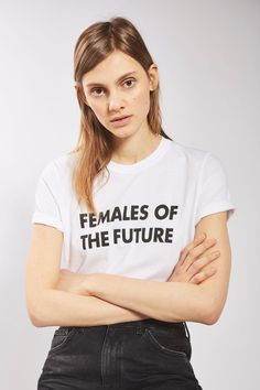 """Make a bold statement with this retro """"Females Of The Future"""" and celebrate women all around the world! Wear it for a pair of jeans and a leather jacket!"""