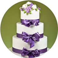 Ooh love the purple! Bow Wedding Cakes, Wedding Bows, Elegant Wedding Cakes, Purple Wedding, Our Wedding, Wedding Ideas, Fall Wedding Makeup, Fall Wedding Flowers, Wedding Decorations On A Budget