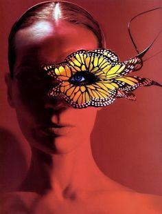 -Michael Thompson-  'Veruschka Flair' circa  (Butterfly mask *by Philip Treacy) .2003