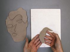 Lesson Plan 50 step texture mold image transferred to clay Sculpture Projects, Sculpture Ideas, 3d Projects, Project Ideas, Cubist Portraits, Picasso Art, Clay Faces, High School Art, Cubism