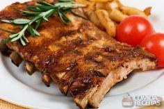 Receita de Costelinha assada ao molho barbecue em receitas de carnes, veja essa e outras receitas aqui!