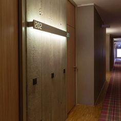 third mark W Hotel /// Signage & Wayfinding Hotel Hallway, Hotel Corridor, Hotel Door, Corridor Design, Entrance Design, Door Design, Door Signage, Hotel Signage, Wayfinding Signage