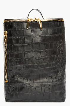 Black Draped Backpack