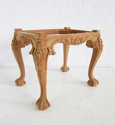 Traditional Carved Stool / George II Stool Ball & Claw Foot / Dutch Connection