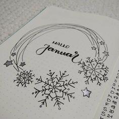 "39 Me gusta, 1 comentarios - @bujo.as en Instagram: ""Januar Titel.  #snowflakes #bujo #bulletjournal #bujojunkies #bulletjournaljunkies #bujoinspire…"""