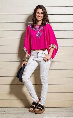 Moda 2016 ropa de mujer tendencias verano 2016 Sophya. Moda verano 2016 túnicas.