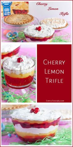 This dish tastes as good as it looks. All the colors of Spring but it's still #EasterMadeEasy with Mrs. Smith's cherry pie! #CollectiveBias #ad | SimpleFood365 http://simplefood365.com/easter-desserts-get-easier-ever-cherry-lemon-trifle/