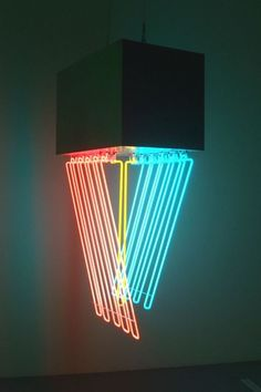 Stephen Antonakos - Hanging Neon, 1965, Neon and black paint on metal. : Art