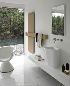 Modern Radiators Design by Italian Brand Tubies towel rails horizontally radiator Bathroom Pictures, Bathroom Inspiration, Bathroom Drain, Radiators Modern, Bathroom Interior Design, Bathroom Design, Modern House Exterior, Modern, Latest Bathroom