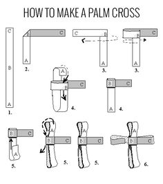 A complete guide with easy to follow videos and diagrams showing how to make a Palm Cross