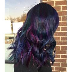 thejennshin SLICK AF  This color process takes a long time but it\'s so worth it !!  Used all Joico Cabigting color intensity color for this look  #btconeshot_color16 #btconeshot_rainbow16 #btconeshot_ombre16 #btconeshot_curls16