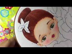 Pintura En Tela Niña Orquídea # 2 Con Cony