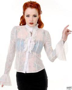 chemise pour femmes avec longue manche BANNED - Key - Blanc