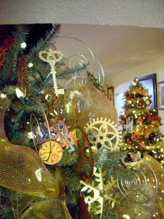 There are so many great pictures of the steampunk Christmas trees on this site!