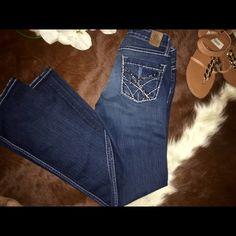 BKE STELLA JEANS GREAT CONDITION !! BOOT CUT -STRECH SIZE 26X 331/2 BKE Jeans Boot Cut