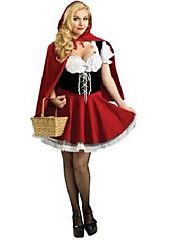 Innocent Petit Chaperon Rouge Rouge Polyester Costume Party Halloween des femmes
