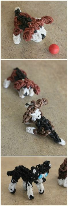 Rainbow Loom Dogs: Beagle and Husky
