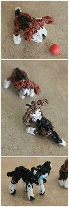 Rainbow Loom Dogs: Beagle and Husky