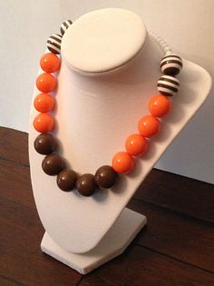 Hey, I found this really awesome Etsy listing at https://www.etsy.com/listing/201784991/cleveland-browns-necklace