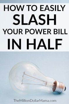 Looking for ways to reduce your utility bills? These are the 10 easy steps I took to cut my electric bill in half!