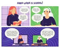 illustrated strip - Google Search Cheat Online, Education Information, Learning Methods, Working People, Always You, Good Grades, Im Trying, Education Quotes, Comic Strips