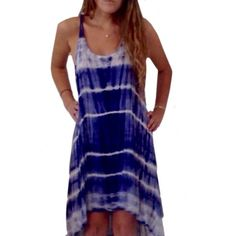 Zen Spell Tiedye Gypsy Dress Worn once. Great condition. High low style. Purchased at LF. Zen Spell Dresses