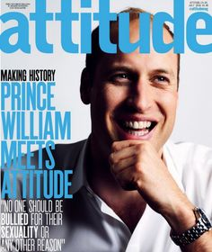 Prince William posed for the July 2016 issue of 'Attitude' as the first-ever royal to appear on the cover of a gay magazine — find out what he said about LGBT bullying Duchess Kate, Duke And Duchess, Gay, Radios, Duke Of Cambridge, Lgbt Community, Princesa Diana, Cover Pages, Book Covers