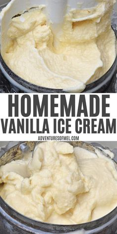 Our homemade vanilla ice cream recipe has been a summer staple for as long as I can remember. How to make it the old-fashioned way using an ice cream maker. #homemadeicecream #vanillaicecream #icecream #desserts #icecreammaker #frozendesserts Cold Desserts, Frozen Desserts, Delicious Desserts, Dessert Recipes, Frozen Treats, Easy Desserts, Appetizer Recipes, Best Homemade Ice Cream, Homemade Vanilla