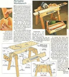 #977 Portable Workbench Plans - Workshop Solutions Plans, Tips and Tricks