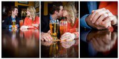 Pub engagement photos, couple photos, Calgary engagement photographer, www.kimpayantphotography.com