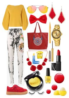 """""""kleurrijk"""" by lizevanoosten ❤ liked on Polyvore featuring Gucci, L.K.Bennett, Topshop, Les Néréides, Invicta, NARS Cosmetics, OPI, tarte, Urban Decay and Eos"""