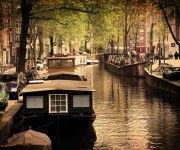 Άμστερνταμ, Ολλανδία, Ρομαντικό-κανάλι