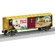Add Disney's Winnie the Pooh to your O gauge train layout with this boxcar from Lionel Trains, which commemorates its anniversary. Winnie The Pooh Friends, Disney Winnie The Pooh, Ho Model Trains, Hobby Trains, Train Layouts, Boxcar, Classic Toys, 50th Anniversary, Scale