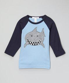 Another great find on #zulily! Navy Shark Raglan - Infant & Toddler by Million Polkadots #zulilyfinds