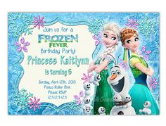 Hey, I found this really awesome Etsy listing at https://www.etsy.com/listing/226264592/frozen-fever-invitation-frozen-birthday