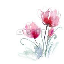 Výsledek obrázku pro akvarel květiny
