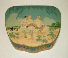 Vintage Art Deco Richard Hudnut Three Flowers Perfume Set Original Box Only